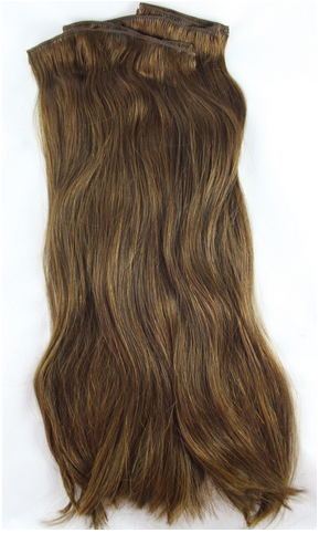 Clip In Hair Extensions Chestnut Brown Deluxe