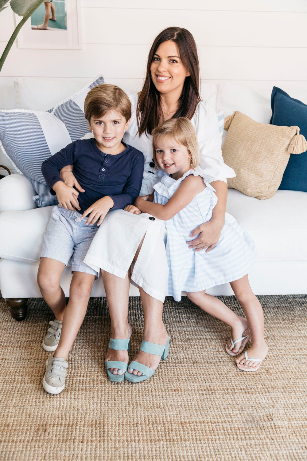 founder with her two children