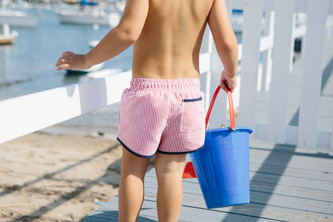 Boy's Red Stripe Boardies