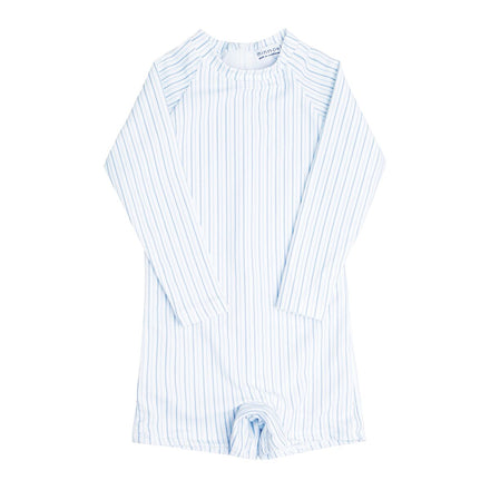 boy's double stripe rashguard one piece