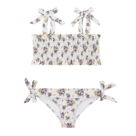 girls brock x minnow multi floral smocked bikini
