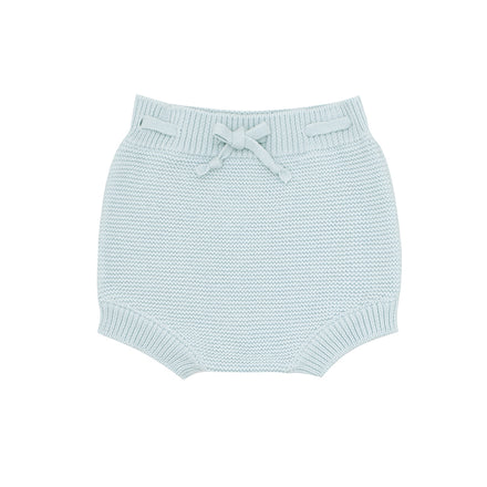blue knit short
