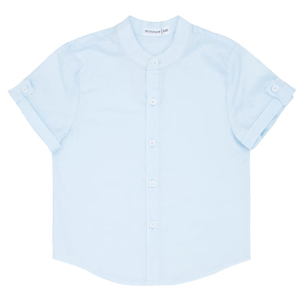 boys light blue button down shirt