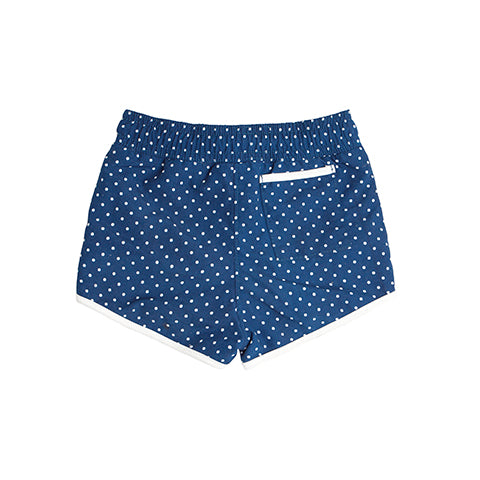 Boy's Navy Dot Boardie