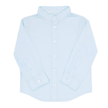 boys light blue long sleeve button down shirt