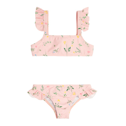 girls botanical pink tie back bikini