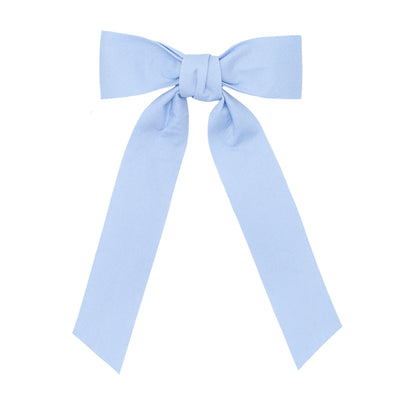 girls blue bow with tails