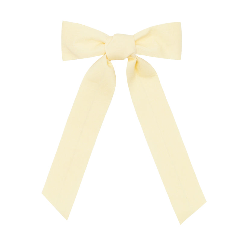 girls yellow bow with tails
