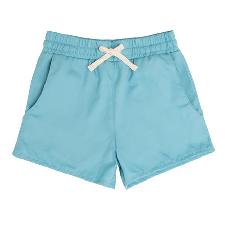 boys misty blue canvas short