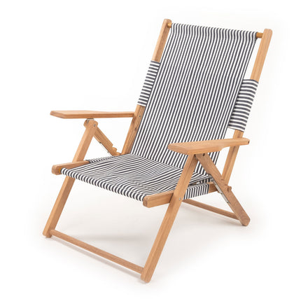 lauren chair, navy stripe