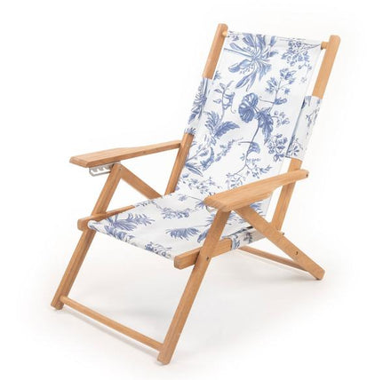 tommy chair, chinoiserie blue