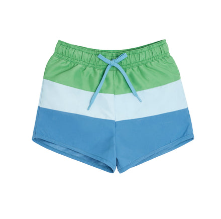 boys peri blue tricolor block boardie
