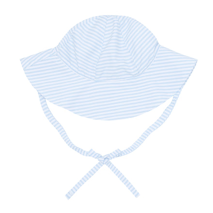 powder blue stripe sun hat
