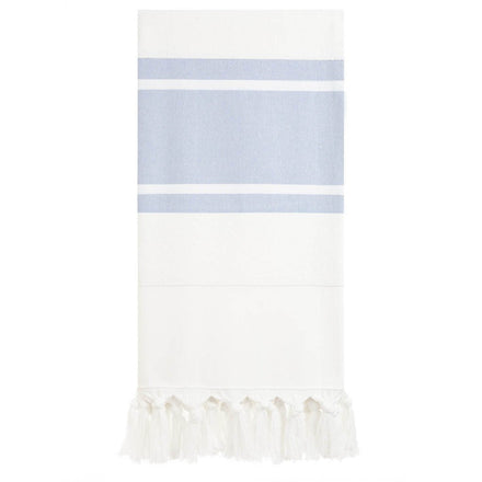 blue & white stripe towel