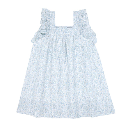 girls slate floral swing dress