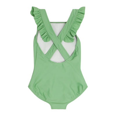 girls spring green crossover one piece