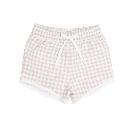 boys Tan Gingham Boardie