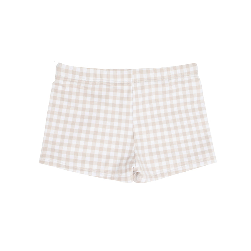 boys Tan Gingham Brief