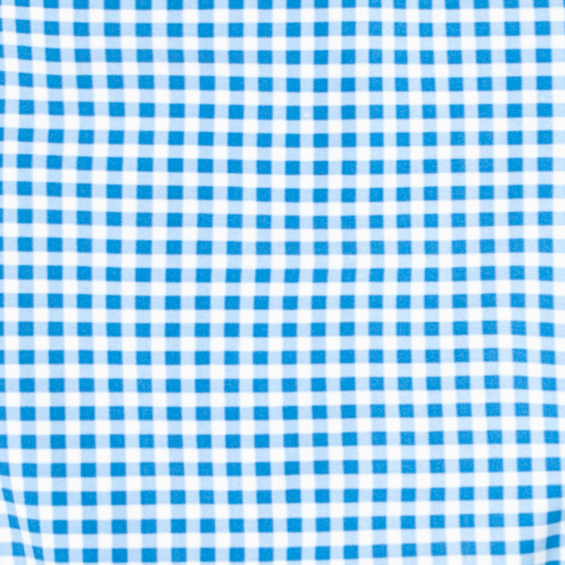 girl's blue gingham rashguard one piece