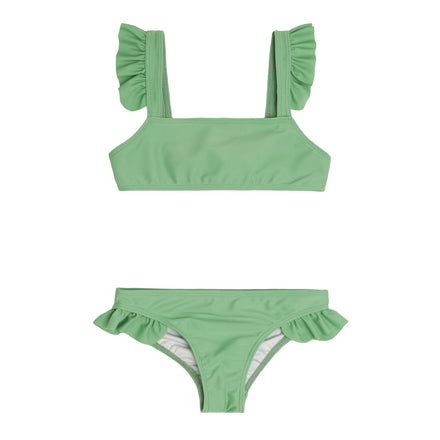 girls spring green tie back bikini
