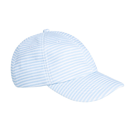 powder blue stripe baseball hat