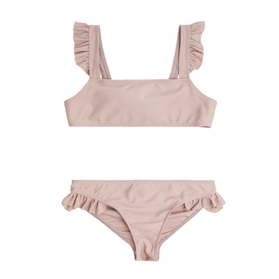 Girls Dusty Plum Tie Back Bikini