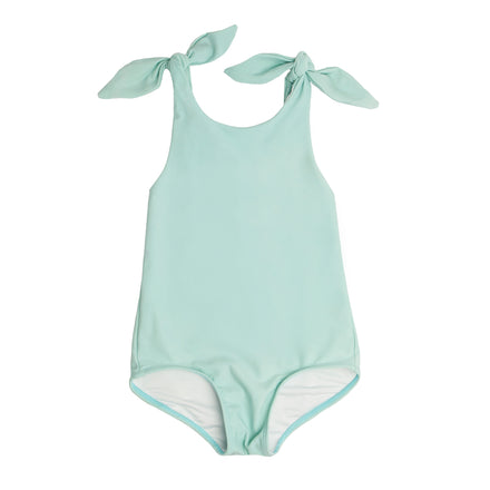 Girls Seafoam Tie Knot One Piece