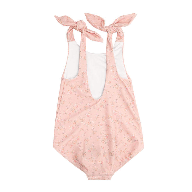 girl's guava tie knot one piece