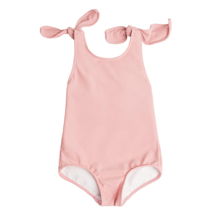 Girls Rose Tie Knot One Piece