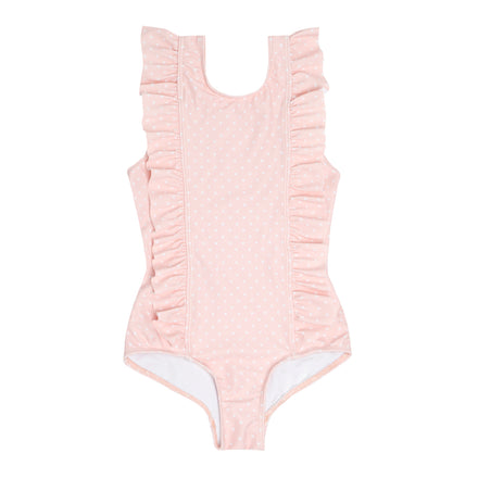 girls tiny heart ruffle one piece