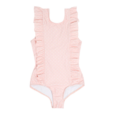 infant tiny heart ruffle one piece