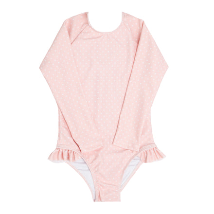 girls tiny heart rashguard one piece