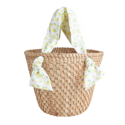 french basket tote in lemon drop