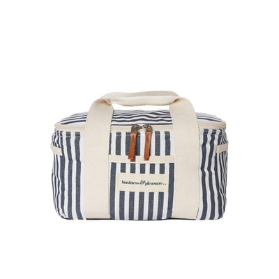 mini cooler bag, navy stripe