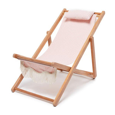 sling chair, pink stripe