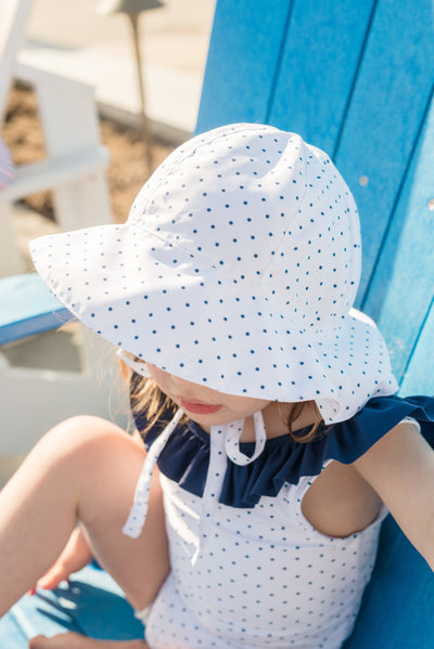 girls white dot ruffle collar one piece