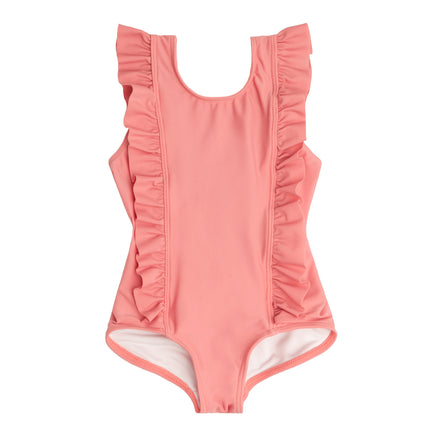 girls nantucket red ruffle one piece