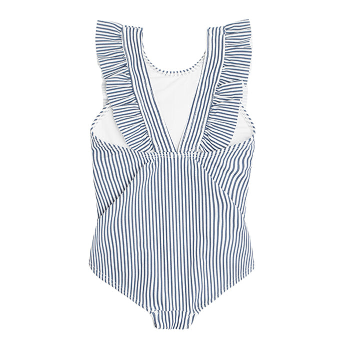 girls stripe ruffle one piece