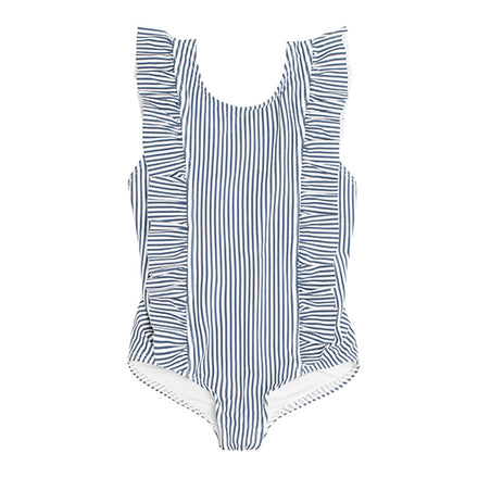 Girl's Stripe Ruffle One Piece