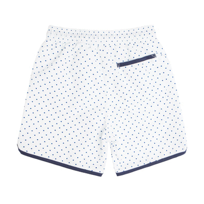 boys white dot boardie