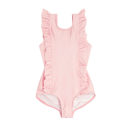 girls pomelo pink ruffle one piece