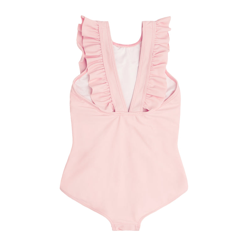 girl s pomelo pink ruffle one piece girl s pomelo pink ruffle one piece d9edbeced
