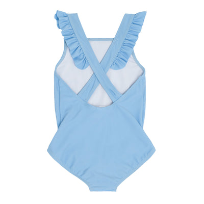 girls peri blue crossover one piece