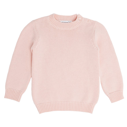 soft pink knit sweater