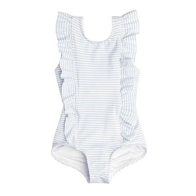 infant powder blue ruffle one piece