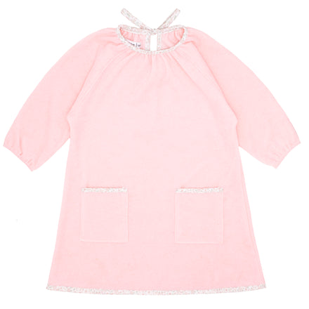 girls pink terry dress