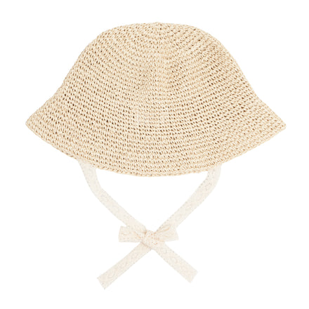 kids crochet straw sun hat