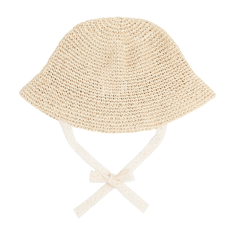 crochet straw sun hat