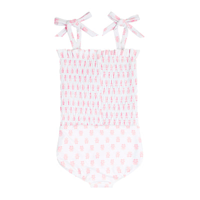 girls shell block smocked one piece