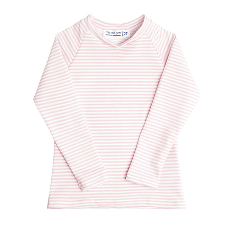 unisex light pink stripe rashguard